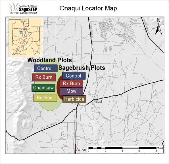 Onaqui site map